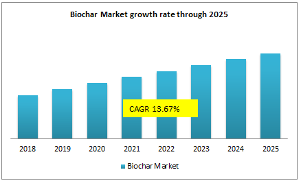 Biochar Market growth rate through 2025