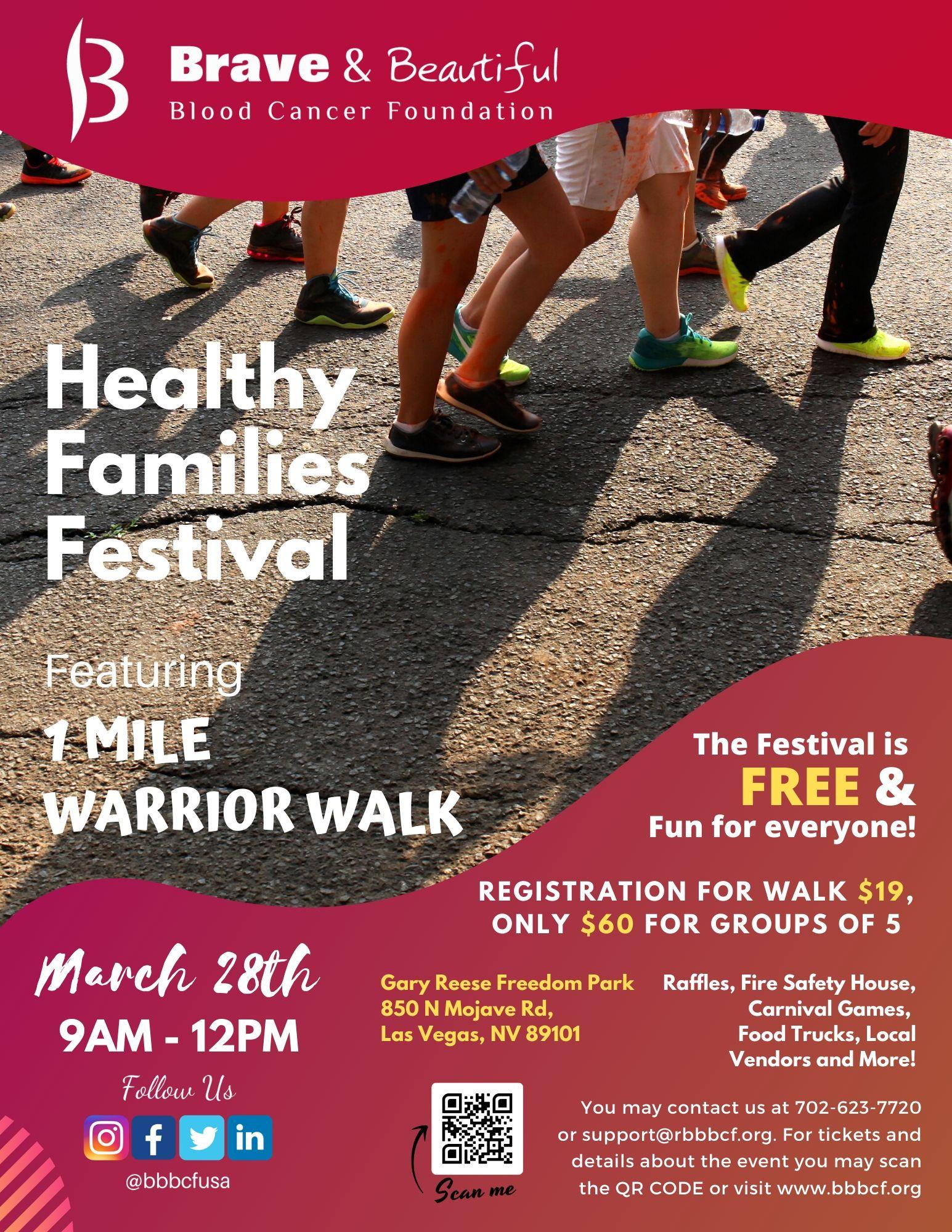 Warrior Walk Flyer